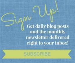 Sign Up Box for Blog