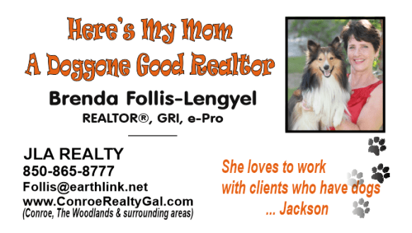 Here's my Mom a Doggone Good Realtor