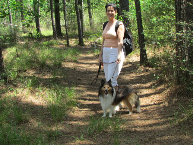 Brenda and Jax enjoying the trails