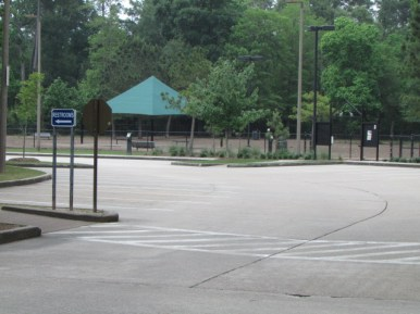 Spacious parking and close to restrooms