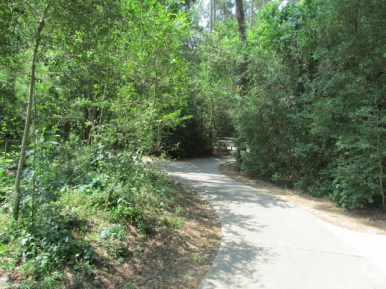 Follow a paved path for a nice walk