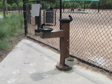 Water faucet for dogs