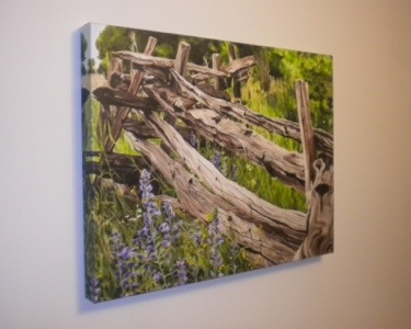 Split Rail Fence print