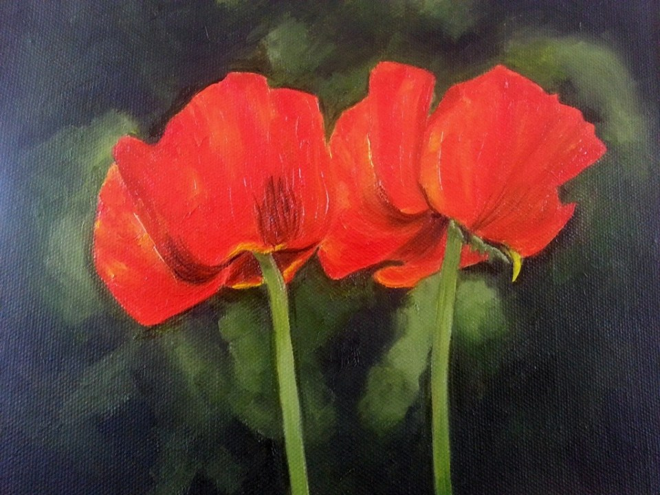 """""""Poppies"""" Brenda Stonehouse 8"""" x 10"""" limited edition prints available."""