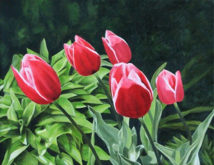 """Springtime"" Brenda Stonehouse 11"" x 14"" oil on canvas. Available for purchase."