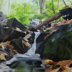 """Algonquin Memories"" Brenda Stonehouse 18"" x 24"" oil on canvas. Available for purchase."