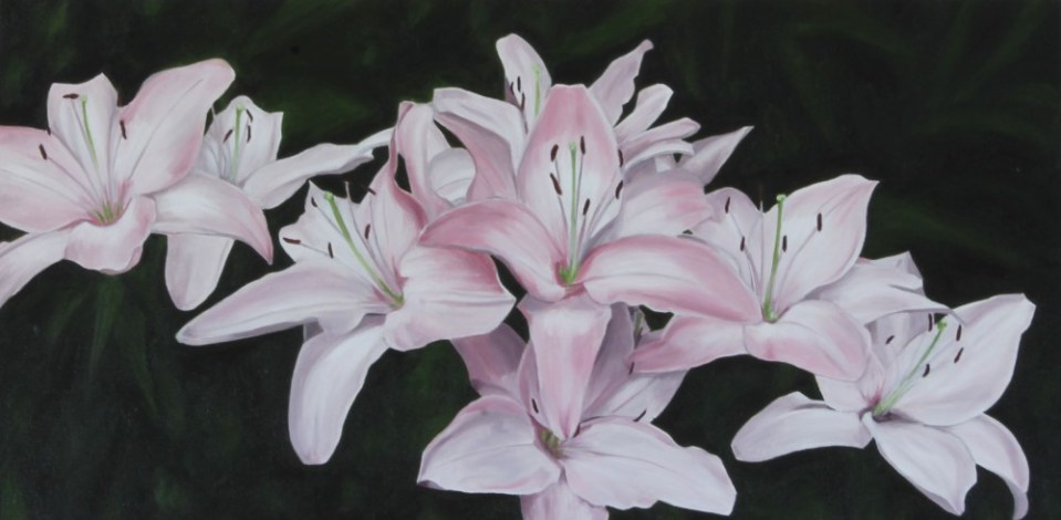 """Perennial Summer"" Brenda Stonehouse 12"" x 24"". Limited edition prints available."