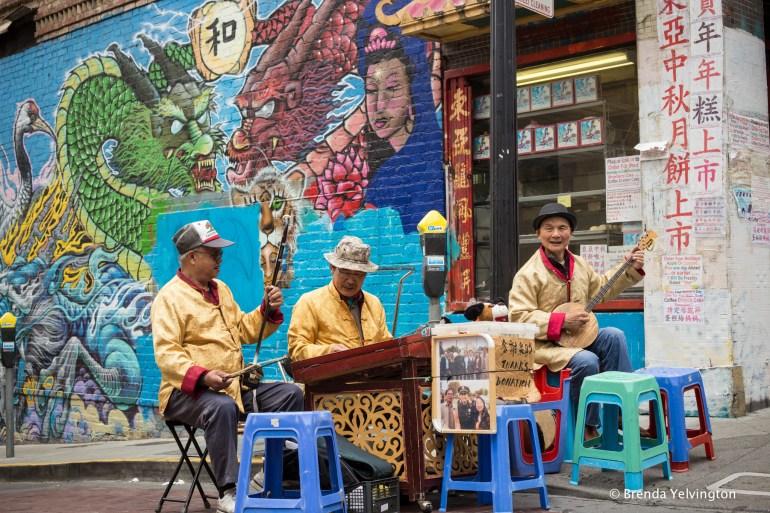 San Francisco street musicians china town