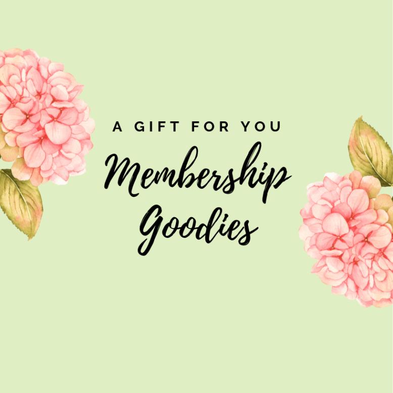 Gently Do Society Membership Goodies