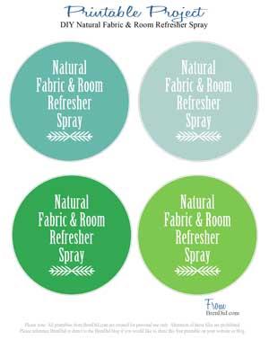 BrenDid Room and Fabric Refresher Spray DIY Printable