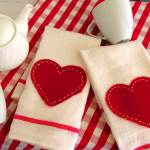 PB Inspired Valentine Tea Towels