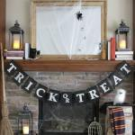 No Sew Burlap Trick Or Treat Halloween Banner With Harry Potter Inspired Decorations Bren Did
