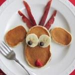 Simple Breakfast Recipe: Reindeer Christmas Pancakes