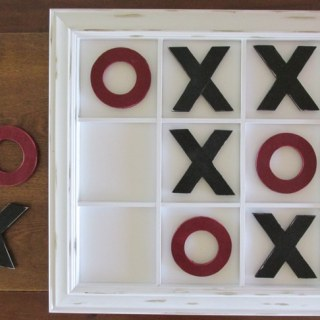 PB Inspired Tic-Tac-Toe Wall Art and Game