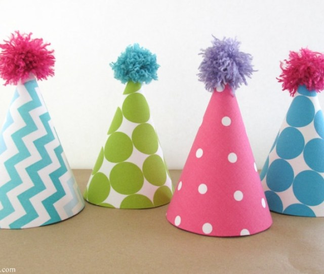 Fabric Covered Party Hats Are An Easy Craft And An Affordable Way To Take Your Birthday