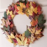 Fall Leaves Front Door Wreath for $0