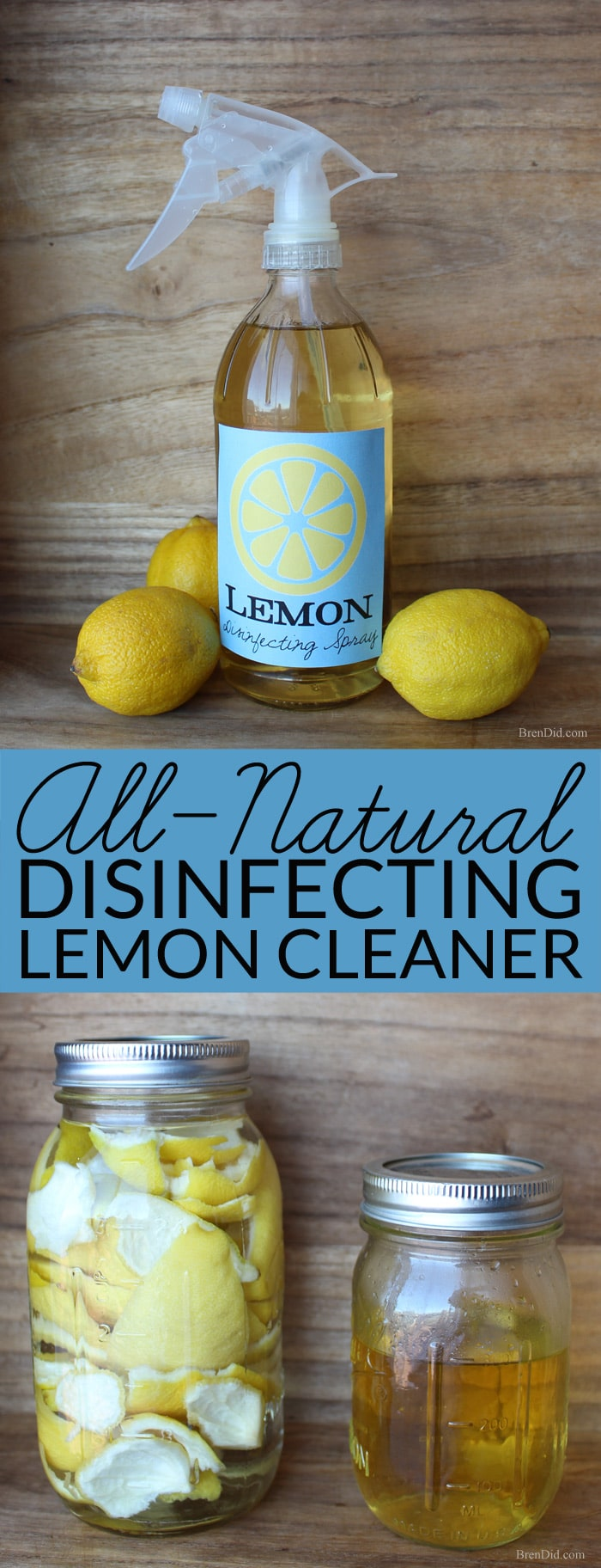 Make this two ingredient all-natural disinfecting spray to help protect your family from germs during cold and flu season.
