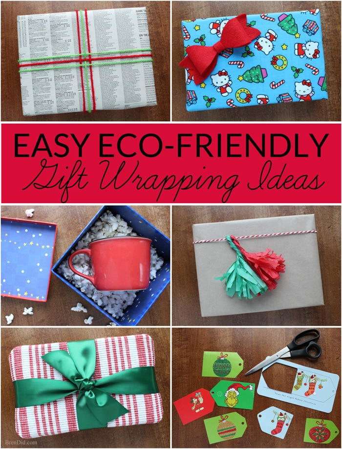 Green your holiday gift giving by making eco-friendly choices when preparing your gift. The holidays can be fun and magical while still being environmentally conscious. Learn easy, frugal, eco-friendly gift wrapping ideas. #PowerYourHoliday #ad