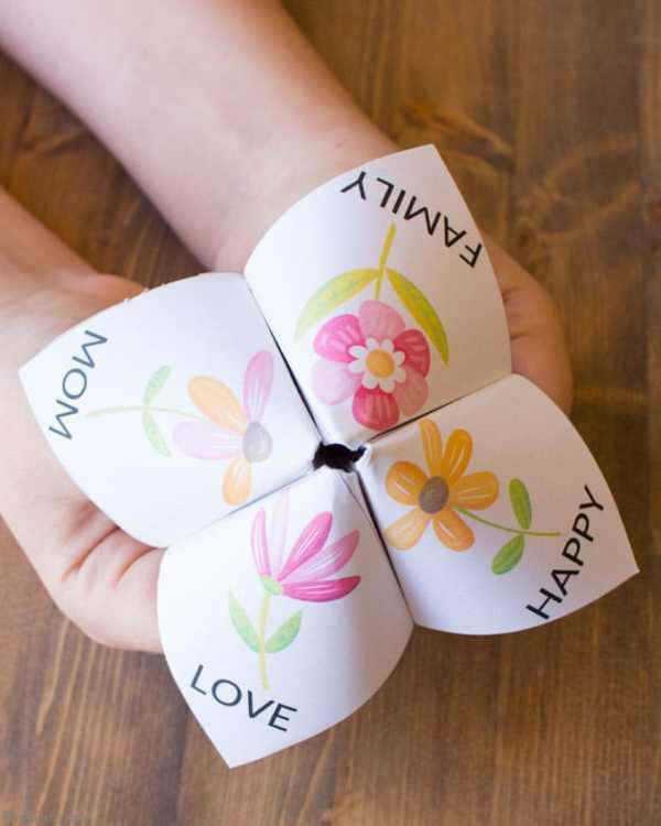 Easy Mother's Day Craft for Kids: Fortune Teller - Bren Did