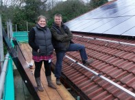 Steph of Children's Centre and Andy of Eco-Exmoor