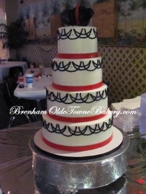 Black Hibiscus Wedding cake