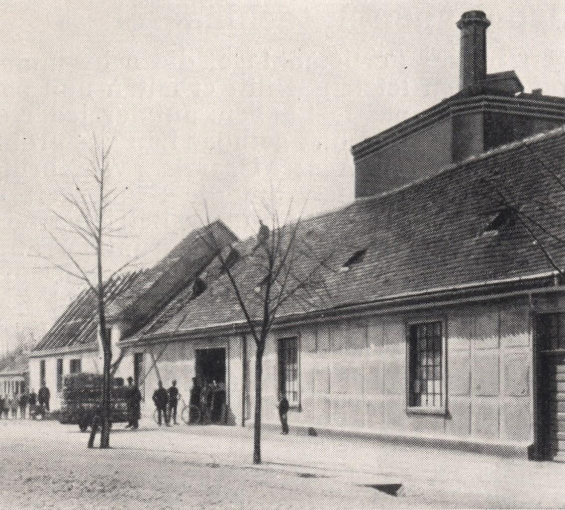 Blick auf die Werkstätten in der St. Annenstraße (um 1874)