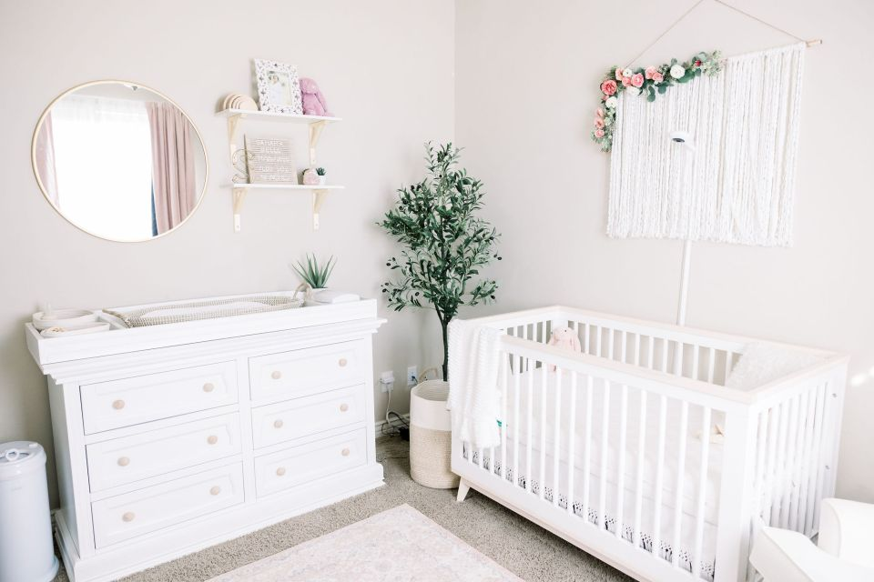 Boho Inspired Nursery for Baby Girl | Brenna Heater Photography