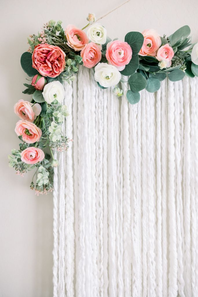 Macrame floral wall hanging for Sahara's Nursery | Brenna Heater Photography