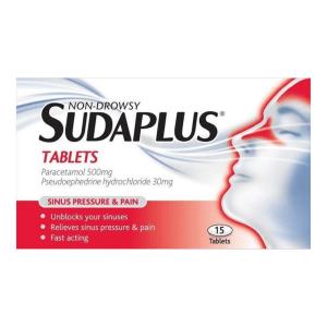 Sudaplus Tablets - Non Droway (15s) | Brennans Pharmacy