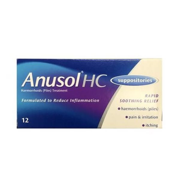 Anusol HC Suppositories | Brennans Pharmacy