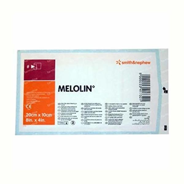 MELOLIN NON ADHESIVE DRESSING 20CMX10CM