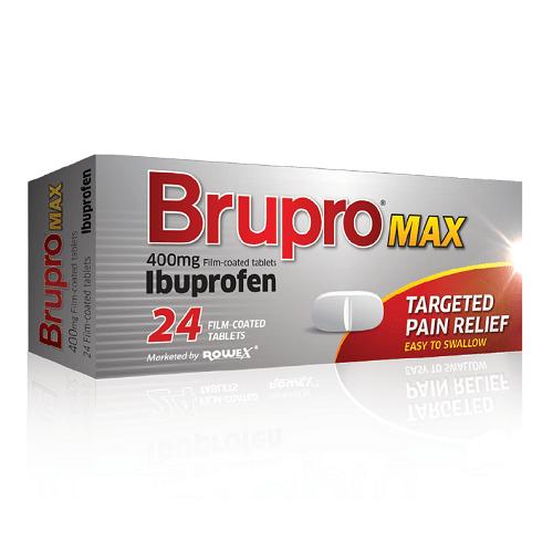 BRUPRO MAX 400MG FILM COATED TABS IBUPROFEN (12's)