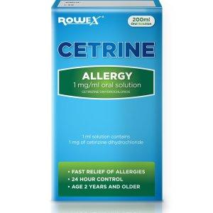 Cetrine Allergy Oral Solution (Cetirizine Dihydrochloride) | Brennans Pharmacy