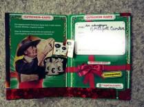 Geburtstagskarte Gutscheinkarte zum 40. Geburtstag