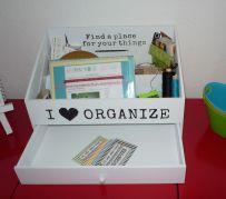 Brennender Schuh - I love organize - Kästchen