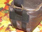 Brennender Schuh - Kameratsche gepolstert unten doppelt verstärkt mit Gurtband