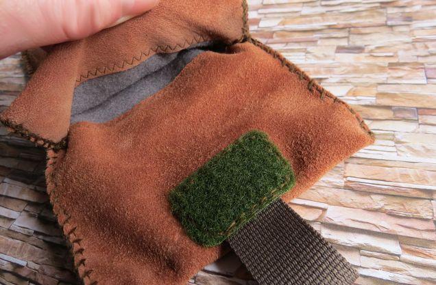 Brennender-Schuh Smartphone-Tasche innen Filz Display-Schutz, braunes Wildleder