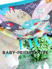 Baby-Perspektive, Sonnenschutz beige Fuchs-Motiv, Babyschalengestell, genäht