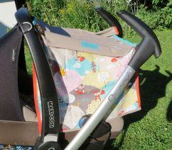 Sonnensegel Babyschale in Verbindung zum Wagengestell,, fürs Baby genäht