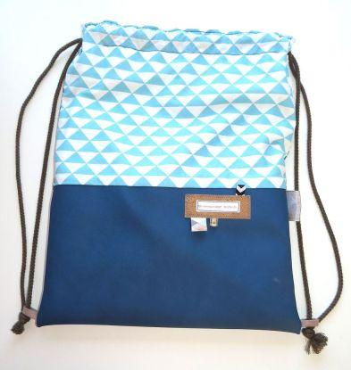 turnbeutel-rucksack-blautoene-kunstleder-dreieck-baumwollstoff-korkstoff-mesh-genaeht