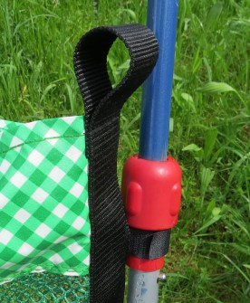 Klett-Befestigung am Dreirad,Dreirad-Tasche, Mesh, Netzstoff, Spielplatztasche,