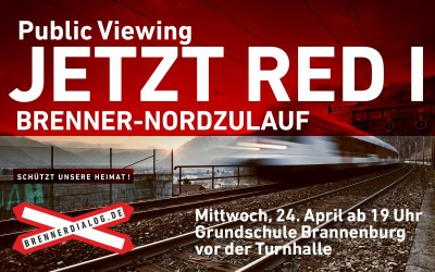 "Public Viewing ""Jetzt red i"" (BR) in Brannenburg"