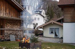 """Die Neubautrassen bedrohen auch historisch wertvolle Gebäude wie das """"Gillitzer-Schloss"""" in Stephanskirchen Innleiten. Quelle: Regine Mrotzek"""