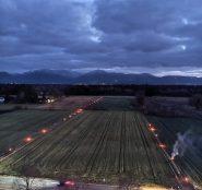 Die geplante Bahntrasse geht durch wertvolle Kulturlandschaft – hier Kolbermoor. Quelle: BI Kolbermoor