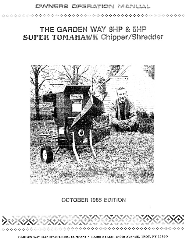 Super Tomahawk Chipper Shredder