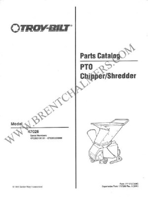 ChipperShredder Manuals