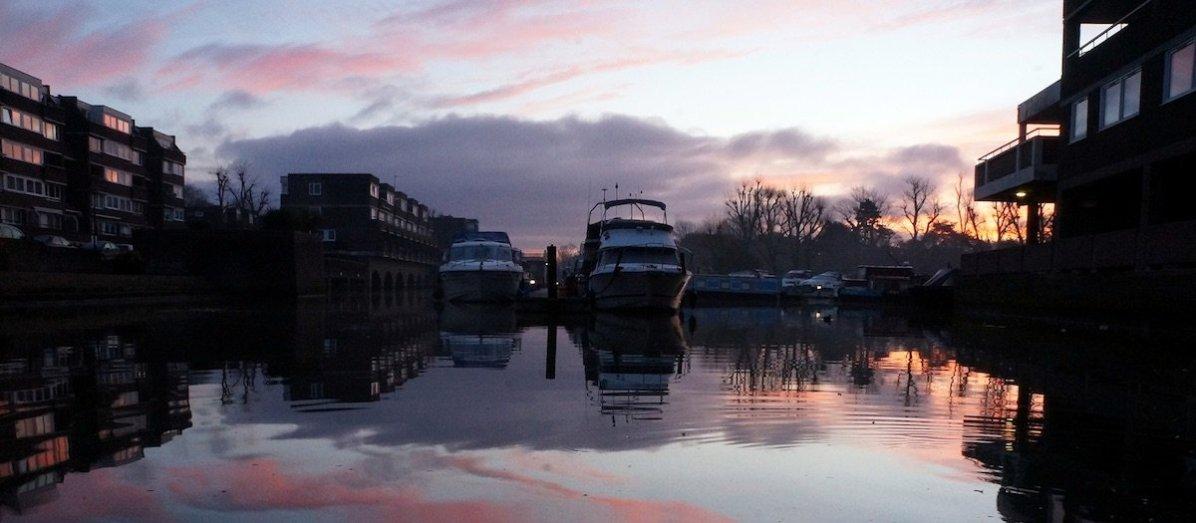 Brentford Dock Marina Sun Rise