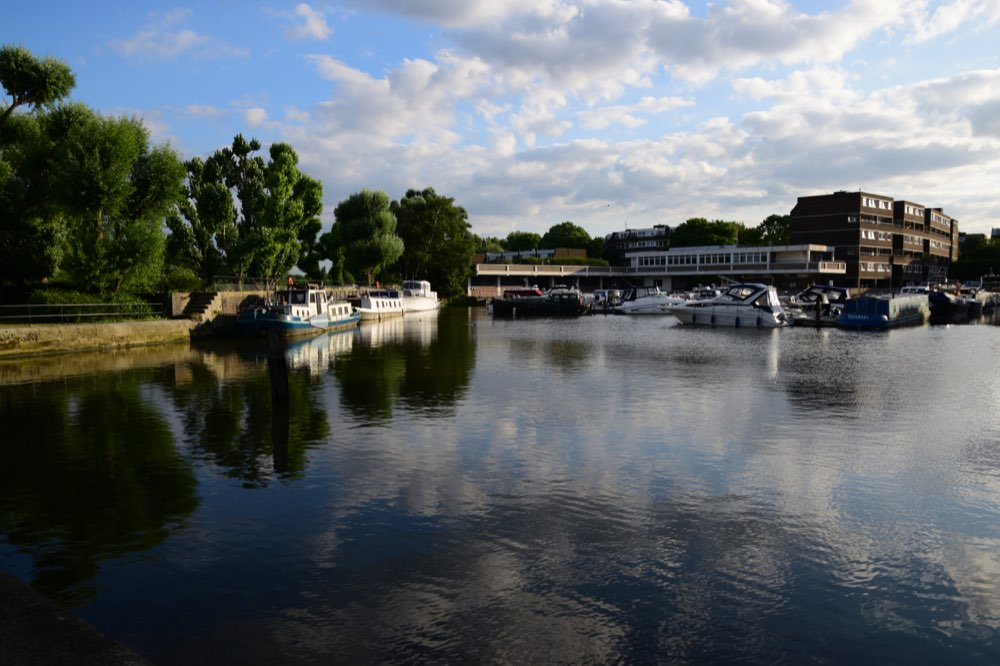 Brentford Dock Marina view