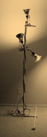 Stylish PVC light stand