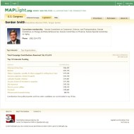 MAPLight.org screencapture